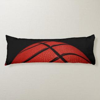Basketball Close-up orange and black Body Cushion