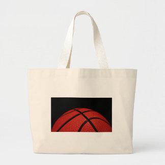Basketball Close-up Sports Team Large Tote Bag