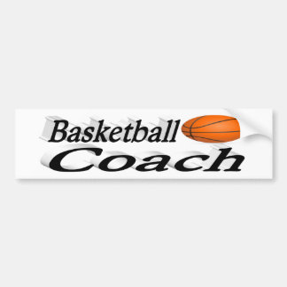 Basketball Coach  3D Bumper Sticker
