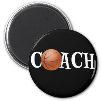 Basketball Coach 6 Cm Round Magnet