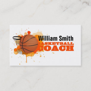 Basketball Coach Business Cards Zazzle Uk