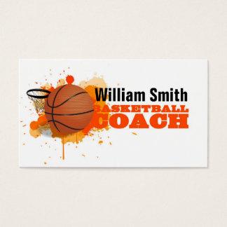 Basketball Coach Business Card