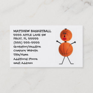 Basketball coach business cards business card printing zazzle uk basketball coach business card colourmoves