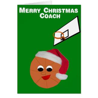 Basketball Coach Christmas Card