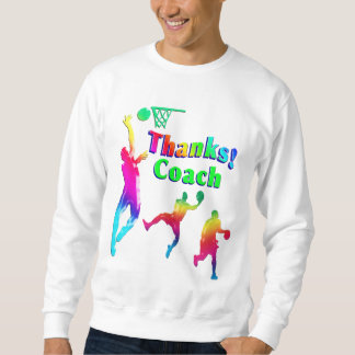 Basketball Coach Colorful Thank You Sweatshirt