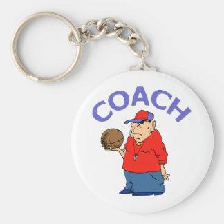 Basketball Coach Design Basic Round Button Key Ring