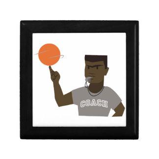 Basketball Coach Small Square Gift Box