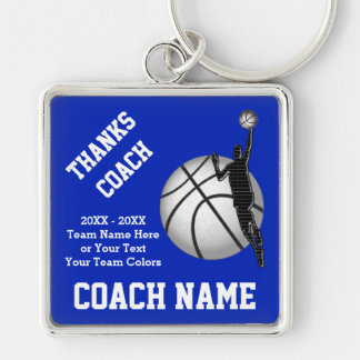 Basketball Coach Gifts Keychain YOUR TEXT, COLORS