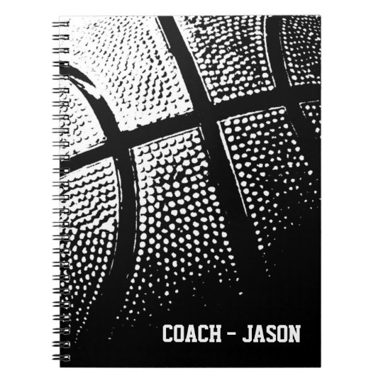 Basketball coach notebook journal | Personalised