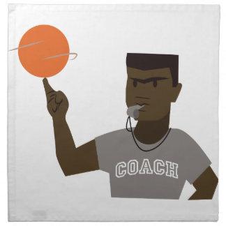 Basketball Coach Printed Napkin