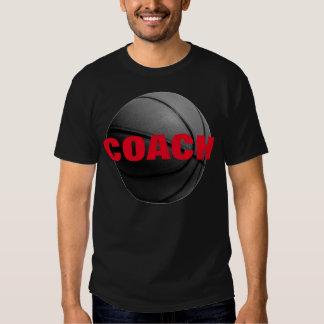 Basketball Coach T-Shirt - Black Red Tees