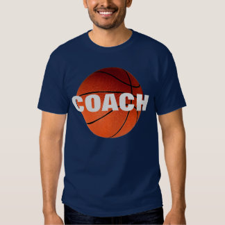 Basketball Coach T-Shirt - Navy Blue Color
