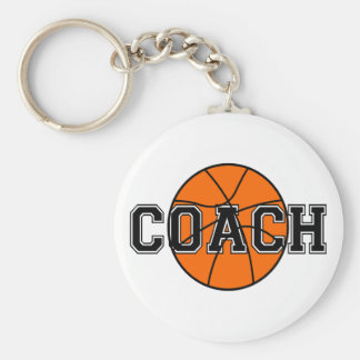 Basketball Coach T-shirts and Gifts. Basic Round Button Key Ring