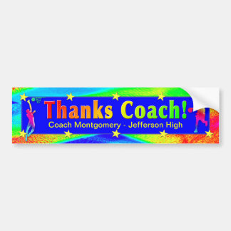 Basketball Coach Thank You Bumper Sticker