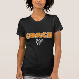 Basketball Coach whistle white T Shirts