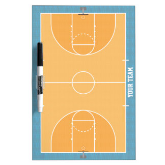 Basketball Court Detailed Medium Dry Erase Board