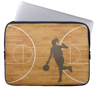Basketball Court Girl Laptop Sleeve
