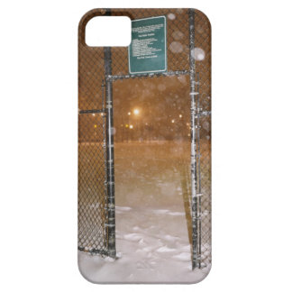Basketball Court in Snow iPhone 5 Covers