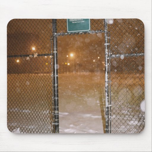 Basketball Court in Snow Mouse Pads