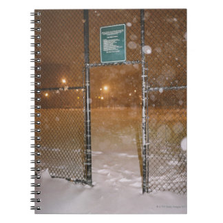 Basketball Court in Snow Notebook