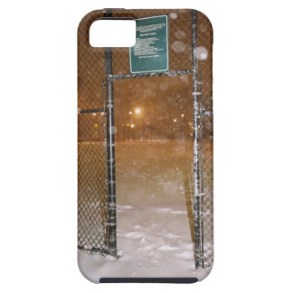 Basketball Court in Snow Tough iPhone 5 Case
