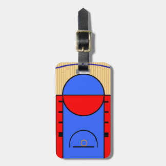 Basketball Court Luggage Tag