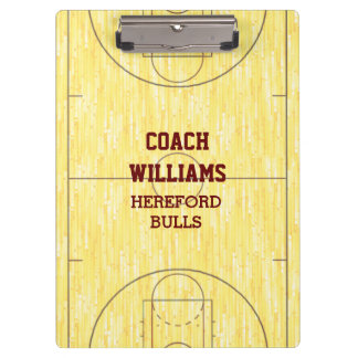 Basketball Court Personalized Clipboard