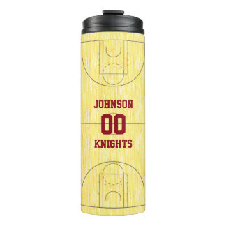 Basketball Court Personalized Thermal Tumbler