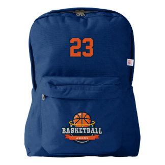 Basketball. Custom Player Name & Number. Backpack