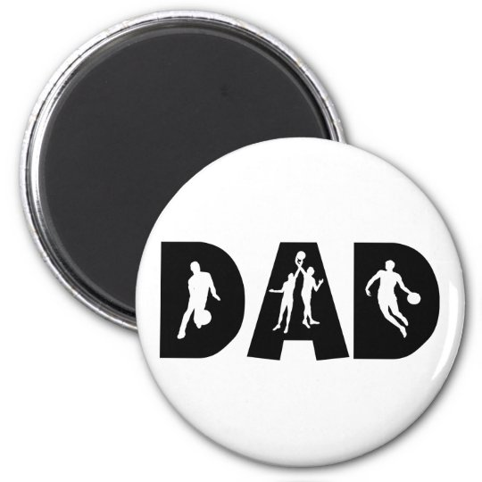 Basketball Dad Father's Day 6 Cm Round Magnet
