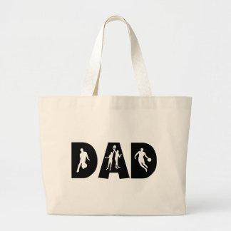 Basketball Dad Father's Day Jumbo Tote Bag