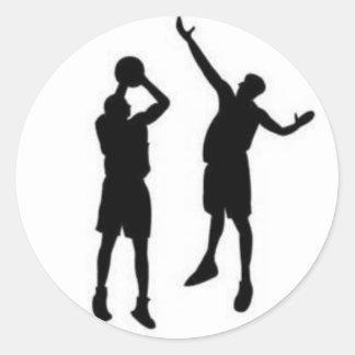 Basketball Defense Classic Round Sticker
