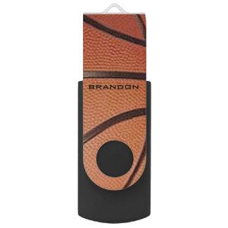 Basketball Design Flash Drive Swivel USB 2.0 Flash Drive