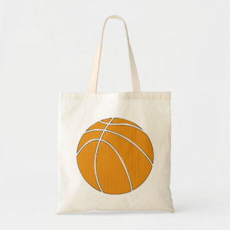 Basketball Design in Traditional Orange and Black Tote Bag