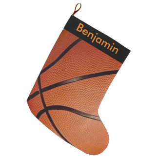 Basketball Design Large Christmas Stocking