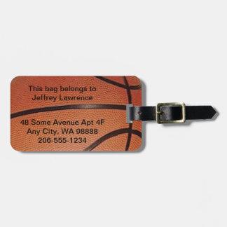 Basketball Design Luggage Tags