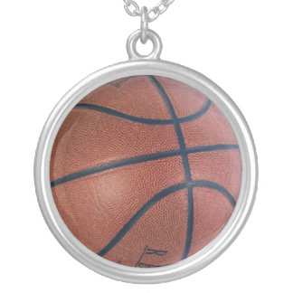 Basketball Dreams Silver Plated Necklace