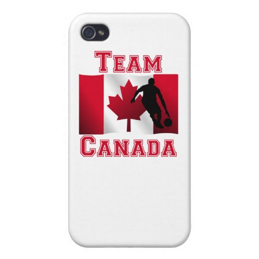 Basketball Dribble Canadian Flag Team Canada iPhone 4 Covers