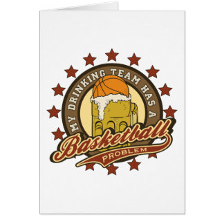 Basketball Drinking Team Greeting Cards