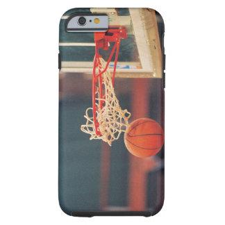 Basketball dropping through hoop tough iPhone 6 case