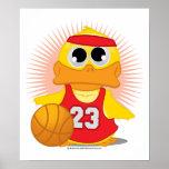 Basketball Duck Poster