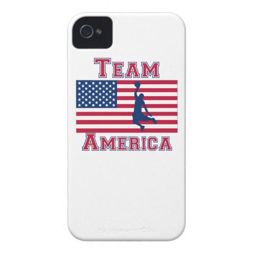 Basketball Dunk American Flag Team America iPhone 4 Cases
