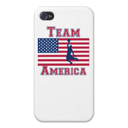 Basketball Dunk American Flag Team America Covers For iPhone 4