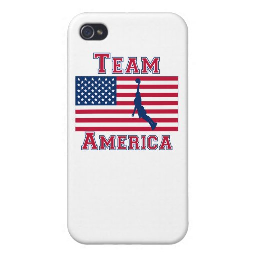 Basketball Dunk American Flag Team America Cases For iPhone 4