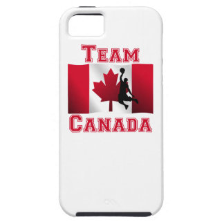 Basketball Dunk Canadian Flag Team Canada iPhone 5 Cases