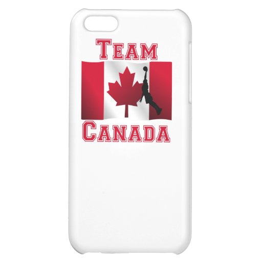 Basketball Dunk Canadian Flag Team Canada Cover For iPhone 5C