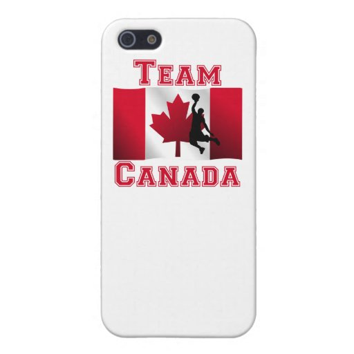 Basketball Dunk Canadian Flag Team Canada Cover For iPhone 5/5S
