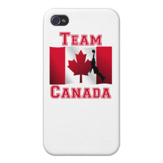 Basketball Dunk Canadian Flag Team Canada Cases For iPhone 4