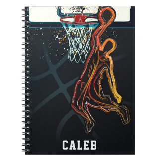 Basketball Dunk Jump Shot Modern Urban Cool Notebook