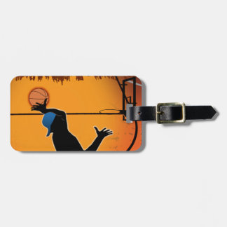 Basketball Dunk Silhouette Luggage Tag